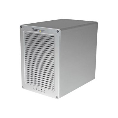 StarTech.com S354SMTB2R 4-Bay Thunderbolt 2 Hard Drive Enclosure with RAID - Quad-Bay 3.5 HDD Enclosure - Sleek  Ultra Compact for Mac or PC