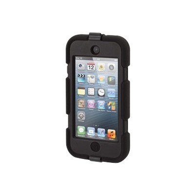 Griffin GB35694-3 Survivor - Protective case for player - silicone  polycarbonate - black - for Apple iPod touch (5G  6G)
