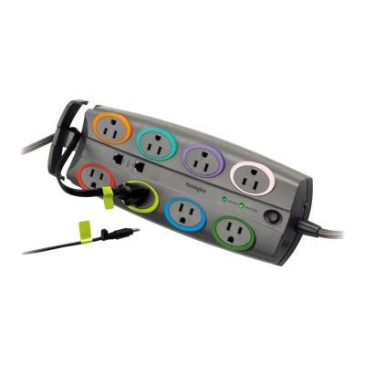 Kensington K62691NA SmartSockets Premium Adapter - Surge protector - output connectors: 8 - North America - gray