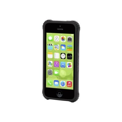 Griffin GB38223-2 Survivor Core - Back cover for cell phone - polycarbonate  TPE - black  clear - for Apple iPhone 5c