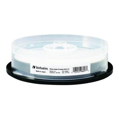 Verbatim 98897 10 x BD-R TL - 100 GB 4x - white - ink jet printable surface  wide printable surface - spindle