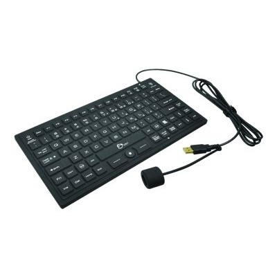 SIIG JK-US0911-S1 Industrial/Medical Grade Washable Backlit Keyboard with Pointing Device - Keyboard - USB - waterproof - black