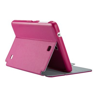 Speck Products Spk-a2789 Stylefolio - Flip Cover For Tablet - Vegan Leather - Fuchsia Pink  Nickel Gray - For Samsung Galaxy Tab 4 (8 In)