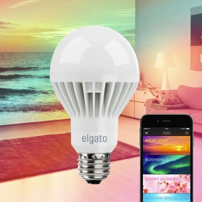 Elgato 10027700 Avea Dynamic Mood Light -7W Smart LED Light Bulb Controlled by iPhone  iPad  Smartphone or Tablet