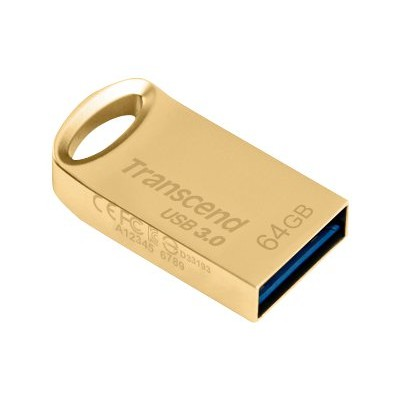 Transcend TS64GJF710G 64GB JetFlash 710 USB 3.0 Flash Drive - Gold