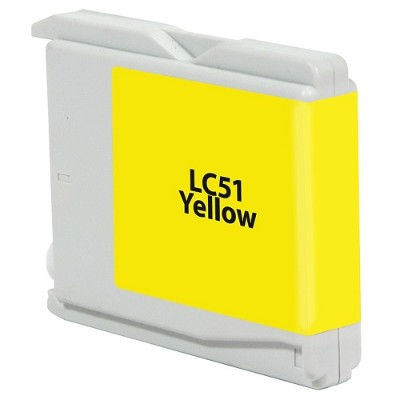 V7 V7LC51Y Laser Toner for select Brother printers - Replaces LC51Y (Yellow)