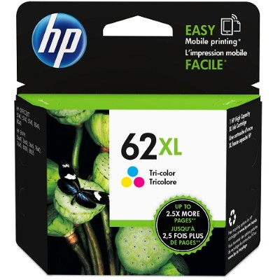 HP Inc. C2P07AN#140 62XL High Yield Tri-color Original Ink Cartridge