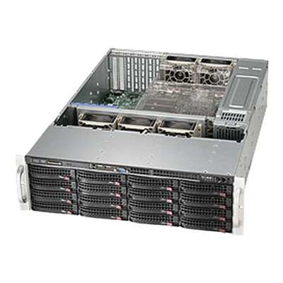 Super Micro CSE-836BE1C-R1K03B Supermicro SC836 BE1C-R1K03B - Rack-mountable - 3U - enhanced extended ATX - SATA/SAS - hot-swap 1000 Watt - black