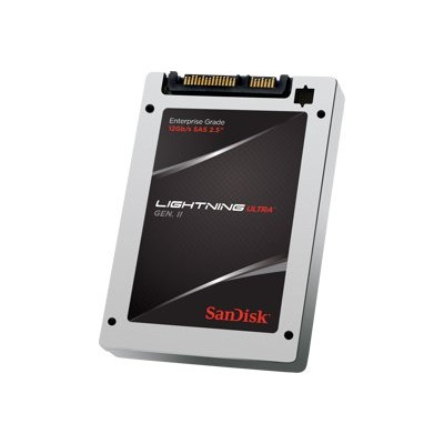 Sandisk SDLTMDKW-400G-5CA1 Lightning Ultra Gen. II - Solid state drive - encrypted - 400 GB - internal - 2.5 - SAS 12Gb/s - Self-Encrypting Drive (SED)