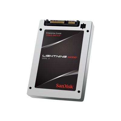 Sandisk SDLTODKM-400G-5CA1 Lightning Ascend Gen. II - Solid state drive - encrypted - 400 GB - internal - 2.5 - SAS 12Gb/s - Self-Encrypting Drive (SED)
