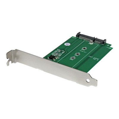 StarTech.com S32M2NGFFPEX M.2 to SATA SSD adapter - Storage controller (RAID) - M.2 - SATA 6Gb/s - 6 GBps - SATA 6Gb/s