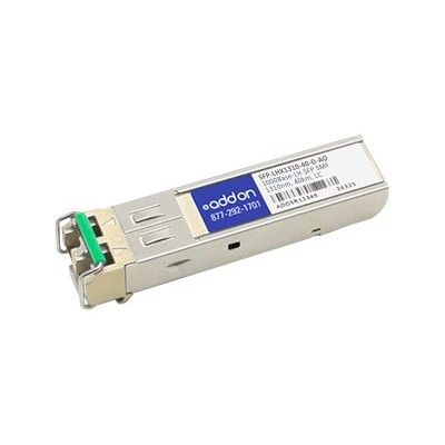 AddOn Computer Products SFP-LHX1310-40-D-AO ZyXEL SFP-LHX1310-40-D Compatible TAA Compliant 1000Base-LH SFP Transceiver (SMF  1310nm  40km  LC  DOM)