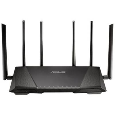 ASUS RT-AC3200 RT-AC3200 Tri-Band Wireless Gigabit Router - Combined Data Rate up to 3200Mbps for smooth  up-to-4K/UHD video playback  ultra-fast file-sharing a