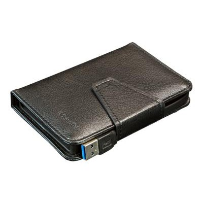 Visiontek 900762 Wallet Drive / Portable Wallet USB 3.0 2.5 Drive Leather Enclosure with Built-In USB Cable for Macs & PCs