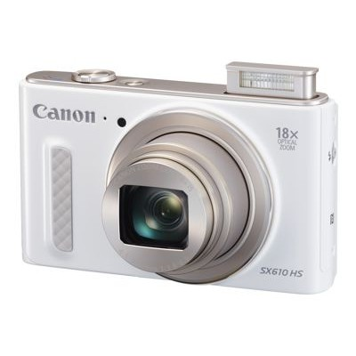 Canon 0112C001 PowerShot SX610 HS - Digital camera - compact - 20.2 MP - 1080p - 18x optical zoom - Wi-Fi  NFC - white