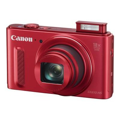Canon 0113C001 PowerShot SX610 HS - Digital camera - compact - 20.2 MP - 1080p - 18x optical zoom - Wi-Fi  NFC - red