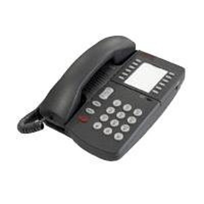 Avaya 700058662 Definity 6219 Corded phone single line operation dark gray