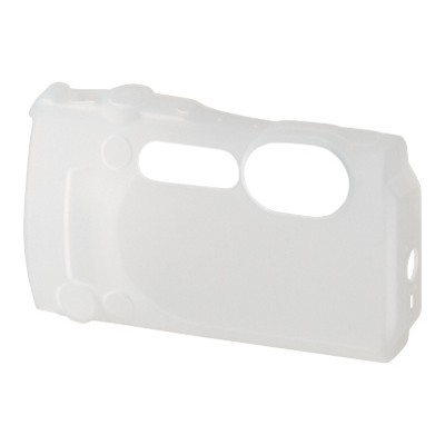 Olympus V600084WW000 CSCH-124 - Protective cover for camera - silicone - half translucent - for  TG-860  Stylus Tough TG-860  TG-870