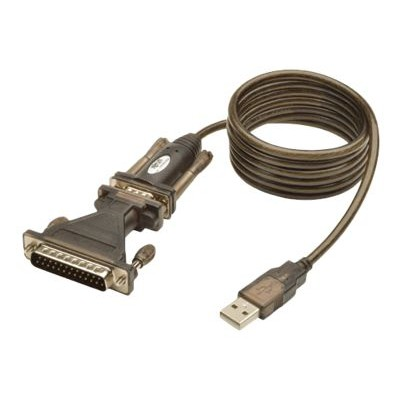 TrippLite U209-005-DB25 USB to RS232 Serial Adapter Cable USB-A to DB25 DB9 M/M 5' 5ft