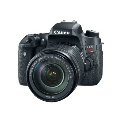 Canon 0020C003 EOS Rebel T6s - Digital camera - SLR - 24.2 MP - APS-C - 1080p - 7.5x optical zoom EF-S 18-135mm IS STM lens - Wi-Fi  NFC