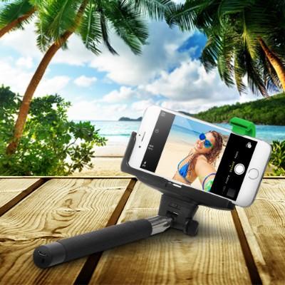 Emerge Technologies ETSELFIEB ReTrak Selfie Stick with Bluetooth - Black