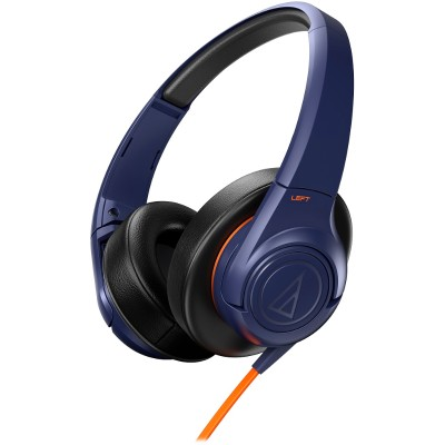 Audio - Technica Ath-ax3nv Sonicfuel Ath-ax3 - Headphones - Full Size - Navy Blue