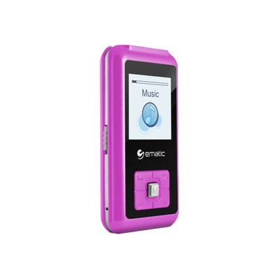 e-matic EM208VIDPN EM208VID - Digital player - 8 GB - pink