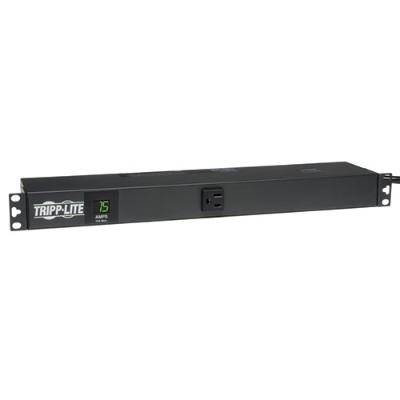 TrippLite PDUMH15-6 PDU Metered Horizontal 1.4kW 120V 15A (13 5-15R) 5-15P 6ft Cord 1URM