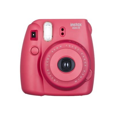 Fujifilm 16443917 Instax Mini 8 - Instant camera - lens: 60 mm - raspberry