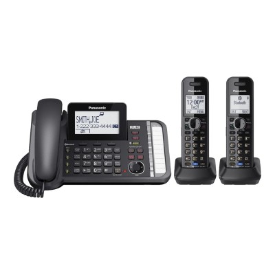 Panasonic KX-TG9582B KX-TG9582 - Corded/cordless - answering system - Bluetooth interface with caller ID/call waiting - DECT 6.0 Plus - 2-line operation - black