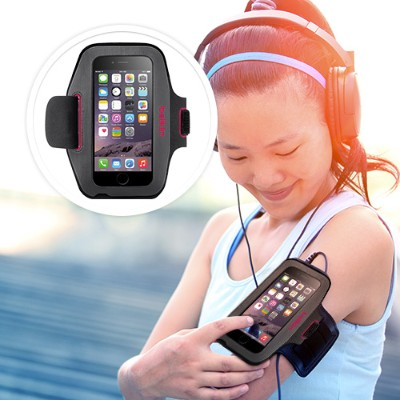 Belkin F8W500BTC01 Sport-Fit Armband - Arm pack for cell phone - neoprene - for Apple iPhone 6s & 6
