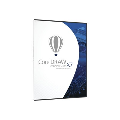 Corel CDTSX7MLDVDA DRAW Technical Suite X7 - Box pack - 1 user - locally installed - academic - DVD (DVD case) - Win - English  German  French