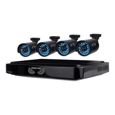 Night Owl Security Products B-A720-81-4 Night Owl B-A720-81-4 - DVR + camera(s) - 8 channels - 1 x 1 TB - 4 camera(s) - CMOS