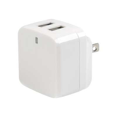 StarTech.com USB2PACWH White Dual Port USB Wall Charger – High Power 17 Watt/ 3.4 Amp (1A & 2.4A) – International Travel Charger 110V/220V