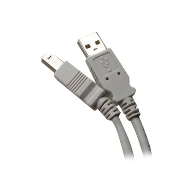 Professional Cable USB-15 USB cable - USB Type B (M) to USB (M) - 15 ft - gray
