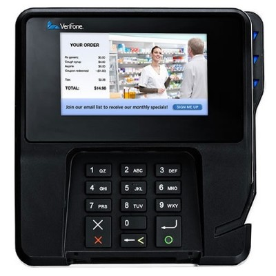 Verifone M177-409-01-R MX 915 - Signature terminal with magnetic / Smart Card reader w/ LCD display - wired - serial  USB  Ethernet 10/100Base-TX