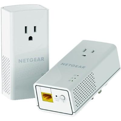 NETGEAR PLP1200-100PAS Powerline PLP1200 - Bridge - GigE  HomePlug AV (HPAV) 2.0  IEEE 1901 - wall-pluggable