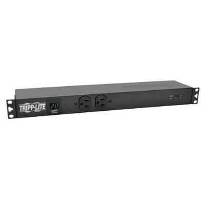 TrippLite PDUMH20-ISO PDU Metered + Isobar Horizontal 1.92kW 120V 20A (12 5-15/20R) L5-20P 15ft Cord 1URM