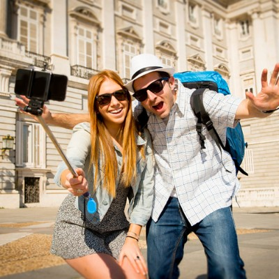Worry Free Gadgets MONOPOD-BLACK Monopad Selfie Stick - Black