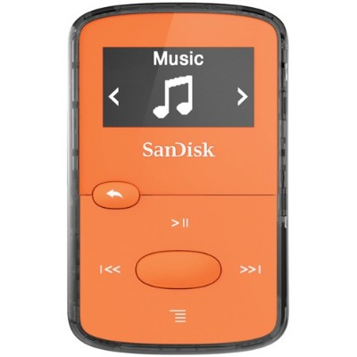 Sandisk SDMX26-008G-G46O Clip Jam - Digital player - 8 GB - display: 0.96 in - orange
