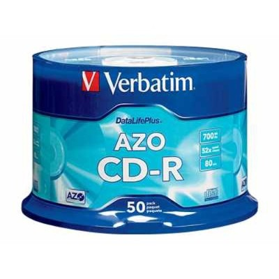 Verbatim 94523 DataLifePlus CD-R 52x 80 Minute 50-Pack Spindle