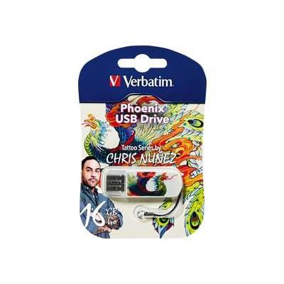 Verbatim 98517 Tattoo Series Phoenix - USB flash drive - 16 GB - USB 2.0