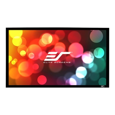 Elite Screens ER100DHD3 SableFrame ER100DHD3 - Projection screen - wall mountable - 100 (100 in) - 16:9 - CineGrey 3D - velvet black
