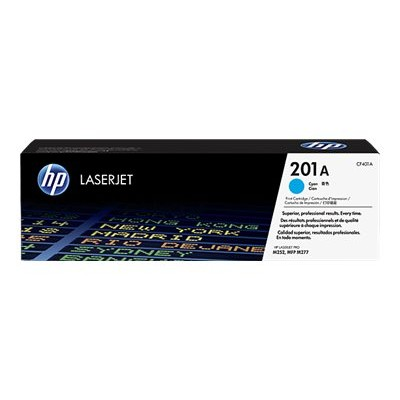 HP Inc. CF401A 201A - Cyan - original - LaserJet - toner cartridge (CF401A) - for Color LaserJet Pro M252  LaserJet Pro MFP M274  MFP M277