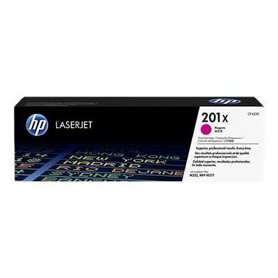 HP Inc. CF403X 201X - High Yield - magenta - original - LaserJet - toner cartridge (CF403X) - for Color LaserJet Pro M252  LaserJet Pro MFP M274  MFP M277