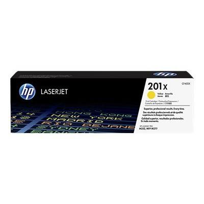 HP Inc. CF402X 201X - High Yield - yellow - original - LaserJet - toner cartridge (CF402X) - for Color LaserJet Pro M252  LaserJet Pro MFP M274  MFP M277