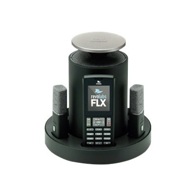 Revolabs 10-FLX2-200-DUALPOTS FLX2-200 Dual POTS Wireless Conference System with 2 Omnidirectional Mics  2 Speakers  and 2 Charging Trays