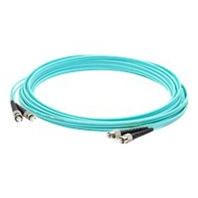 AddOn Computer Products ADD-ST-ST-2M5OM4 2m Laser-optimized Multi-Mode fiber (LOMM) Duplex ST/ST OM4 Aqua Patch Cable