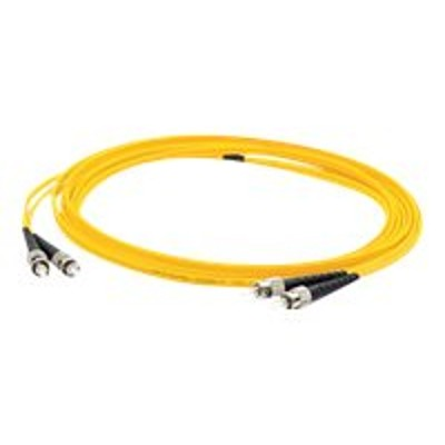 AddOn Computer Products ADD-ST-ST-4M9SMF 4m Single-Mode fiber (SMF) Duplex ST/ST OS1 Yellow Patch Cable