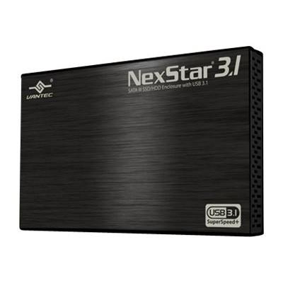 Vantec NST-270A31-BK NexStar 3.1 NST-270A31-BK - Storage enclosure - 2.5 - SATA 6Gb/s - 600 MBps - USB 3.1 (Gen 2) - black